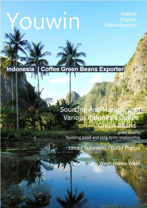 YOUWIN CO.,LTD is a general trading firm specializing in sourcing and marketing of various Indonesia coffee green beans  and finshed products .  The company has various multinational clients in the sector such as food, agro-industry, which they distribute their green beans and finished food.