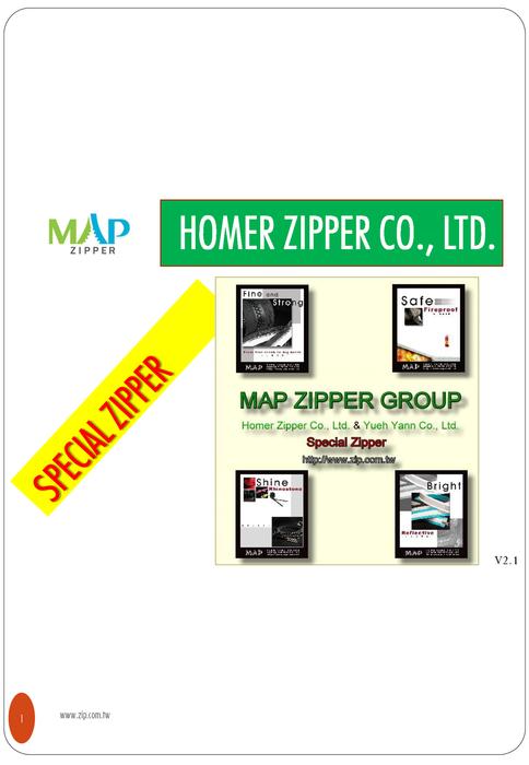 MAP ZIPPER弘采拉鍊 功能性拉鍊型錄